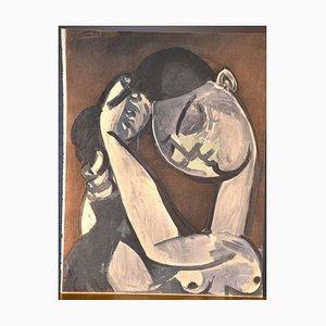 Femme se coiffant - Pochoir Original Après Pablo Picasso - 1956 1956