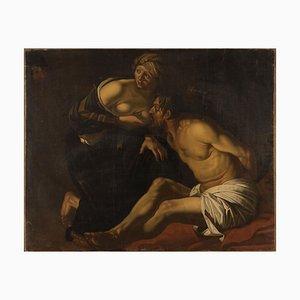 Roman Charity - Oil on Canvas After Dirck van Baburen Mid-17th Century