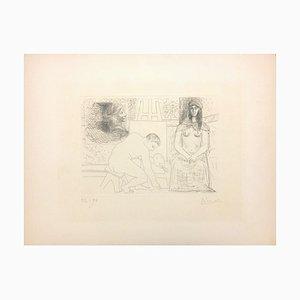 Peintre Ramassant Son Pinceau - Original Etching by Pablo Picasso - 1927 1927