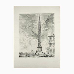 Obelisco Egizio (Ägyptischer Obelisk) - Radierung von GB Piranesi 1759