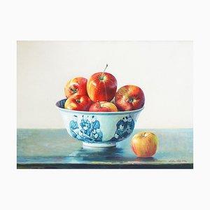 Stillleben mit Äpfeln - Original Öl auf Leinwand von Zhang Wei Guang - 2000 2000