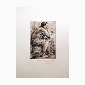 Hot Housekeeper - Original Etching and Drypoint by A. Soffici - 1957 1926