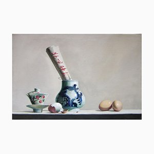 Breakfast - Original Oil on Canvas by Zhang Wei Guang - 2007 2007
