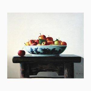 Mele sul tavolo - Olio originale su tela di Zhang Wei Guang - 2008 2008