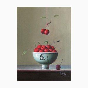 Cerezas - Original Oil on Canvas de Zhang Wei Guang - años 2000