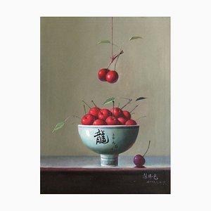 Kirschen - Original Öl auf Leinwand von Zhang Wei Guang - 2000er 2000er