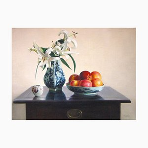 Lillies - Original Öl auf Leinwand von Zhang Wei Guang - 2004 2004