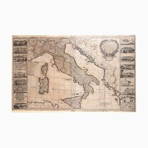 Map Of Italy - Original Etching by George Willdey - 1715 1715