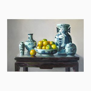 Oranges - Original Oil on Canvas by Zhang Wei Guang - 1998 1998