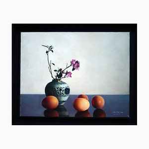 Flowers and Eggs - Original Oil on Canvas by Zhang Wei Guang - 2004 2004