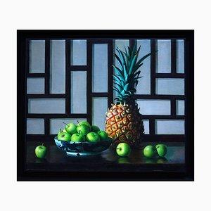 Ananas und Äpfel - Original Öl auf Leinwand von Zhang Wei Guang - 2001 2001