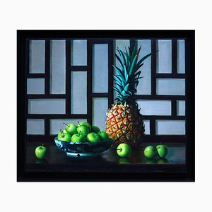 Pineapple and Apples - Original Oil on Canvas by Zhang Wei Guang - 2001 2001