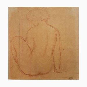 Nude Woman Original Pencil Drawing by Artistide Maillol XIX-XX centuries