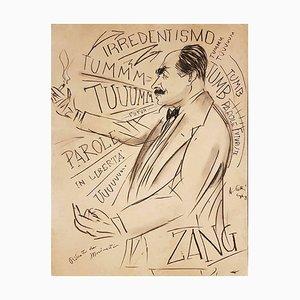 Porträt von Filippo Tommaso Marinetti XX Jahrhundert