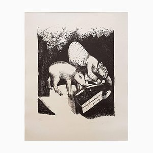 L'Auge II - Original Lithograph by Marc Chagall - 1925 1925