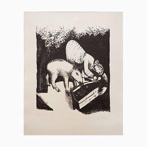Lithographie Originale L'Auge II par Marc Chagall - 1925 1925