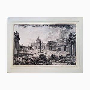 Veduta della Gran Piazza e Basilica di San Pietro XVIII century