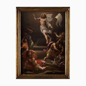 Christ Resurrection - Oil on Canvas by Anonymous Roman School 1600 17th Century