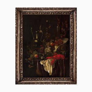 Pair of Still Lives - Oil on Canvas at Half of 1700 Mid 18th Century