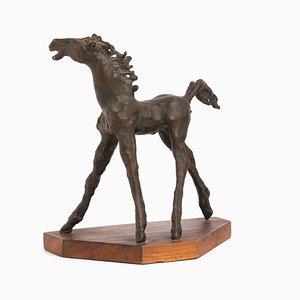 Horse - Original Bronze Sculpture by A. Murer - 1975 1975