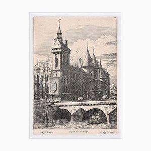 La Tour de l'Horloge - Original Etching by C. Meryon - 1850 ca. 1850 ca.