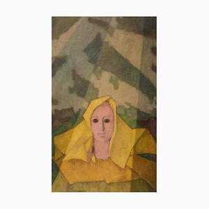 Composition 1955 - Original Öl auf Leinwand von Felice Casorati - 1955 1955
