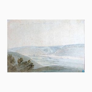 Wide Valley - Watercolor by Anonymous Flemish Master 17th Century 17th century