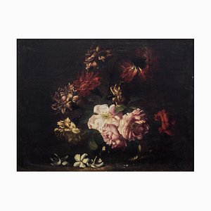 Pair fo Still Lives - Original Oil on Canvas by N. Stanchi - Late 17th Century Late 17th Century