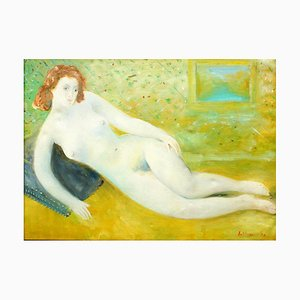 Akt - Original Öl auf Leinwand von Umberto Lilloni - 1958 1958