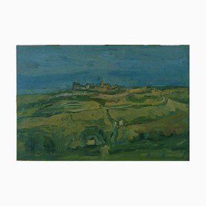 Marche Landscape - Original Öl auf Leinwand von A. Ciarrocchi - 1950 ca. Ca. 1950