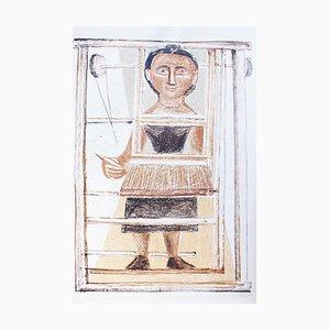The Weaver - Original Lithograph by Massimo Campigli - 1952 1952