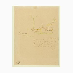 Bukolische Szene - 1930 / 40er - Oskar Kokoschka - Bleistiftzeichnung 1930er / 40er Jahre