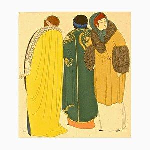 Models in Winter - Original Stencil von Paul Iribe - 1908 1908