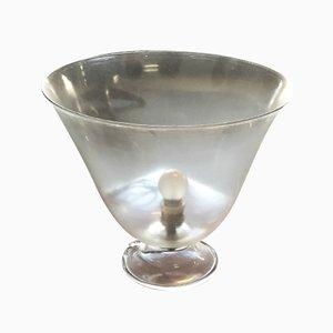 Mundgeblasene Art Deco Glas Lampe, 1940er
