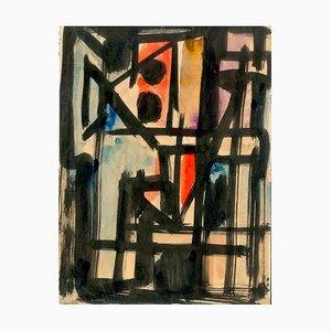 Abstrakte Komposition - Original Tusche auf Papier von Emilio Vedova - 1950 1950