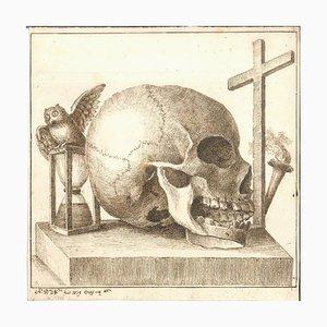 Skulls - Original Tinten-Zeichnungen von Alessandro Dalla Nave - Early 1800 Early 1800