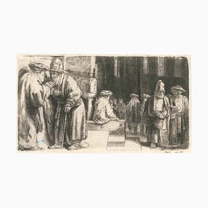 La Synagogue des Juifs - Original Etching by Rembrandt - 1648 1648