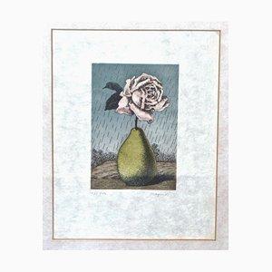 Sin título - Grabado Original de René Magritte - 1968 1968