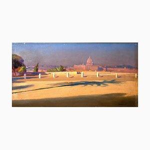 Piazzale del Pincio - Original Oil on Canvas by Amedeo Bocchi - 1920 ca. 1920 ca.