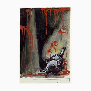 Composition with Blood - Tempera and Ink on Paper 1940 ca. 1940 ca.