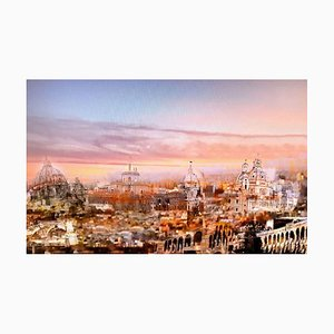 Sunrise on Rome - Original Oil on Canvas by Laura D'Andrea - 2018 2018