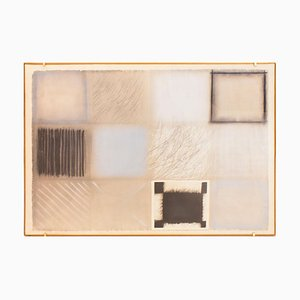 Composition - Original Mixed Media on Paper by Guido Strazza - 1979 1979