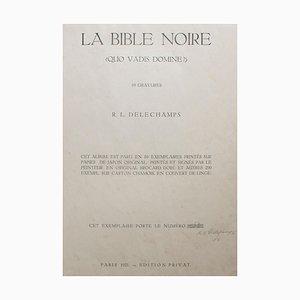 La Bible Noire - Rare Complete Suite Radierungen von RL Delechamps - 1921 1921