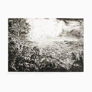 Landscape with Cars - Original Radierung von JP Velly - 1969 1969