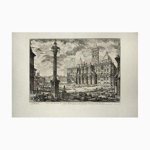Veduta Della Basilica Di S. Maria Maggiore Con Le Due Fabbriche Laterali... 1749