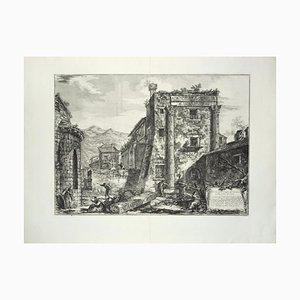Rovine des Castori nella città di Cora - Radierung von GB Piranesi 1764