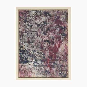 Abstract Flock - Monotypie, Öl und Tempera auf Papier - 1965 ca. 1965 ca