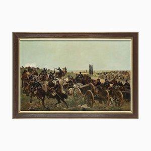 La Guerre Franco-Prussienne - Huile sur Toile par Raoul Arus - Fin 19ème Siècle Fin 19ème Siècle