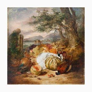 Huile Still Life - Original Oil on Board par E. Ladell - 1870 ca. 1870 env.
