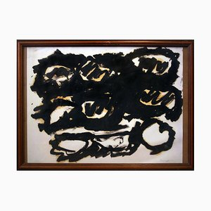 Untitled - Original Oil on Paper by Yannis Kounellis - Late 20th Century Late 20th Century
